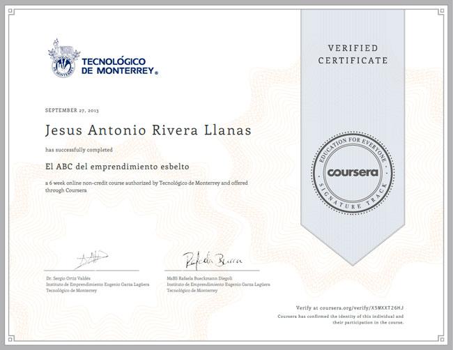 ejemplo certificado de coursera